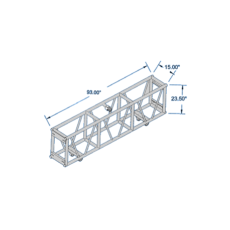 Applied NN Spig. Club Truss 15X30 Single Hung 96 in (Applied NN 13-01-096)