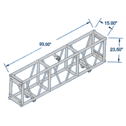 Applied NN Spig. Club Truss 15X30 Single Hung 123 in (Applied NN 13-01-123)