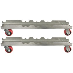 "Light Source Mega-Truss Dolly for 2-15"" Truss (30"" Long) - Aluminum Finish"
