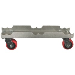 "Light Source Mega-Truss Dolly for 1-20.5"" Truss (20.5"" Long) - Aluminum Finish"