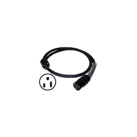 12/3 Gauge SJOOW Cable - 15A, 125V Hubbell Edison Connectors - 10'