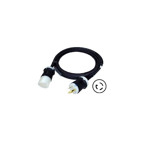 12/3 SOOW Cable - 20A 125V Hubbell Nub-In Twist-Lock Connectors - 10'
