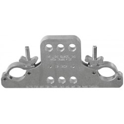 Light Source 12 Inch Mega-Truss Pick Multi-Hole - 1 Ton - Aluminum Finish