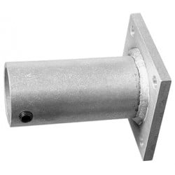 Light Source Wall Mount - 1 1/2 Inch, Schd 40 - Aluminum Finish
