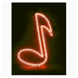 MBT Red Music Note Window Light