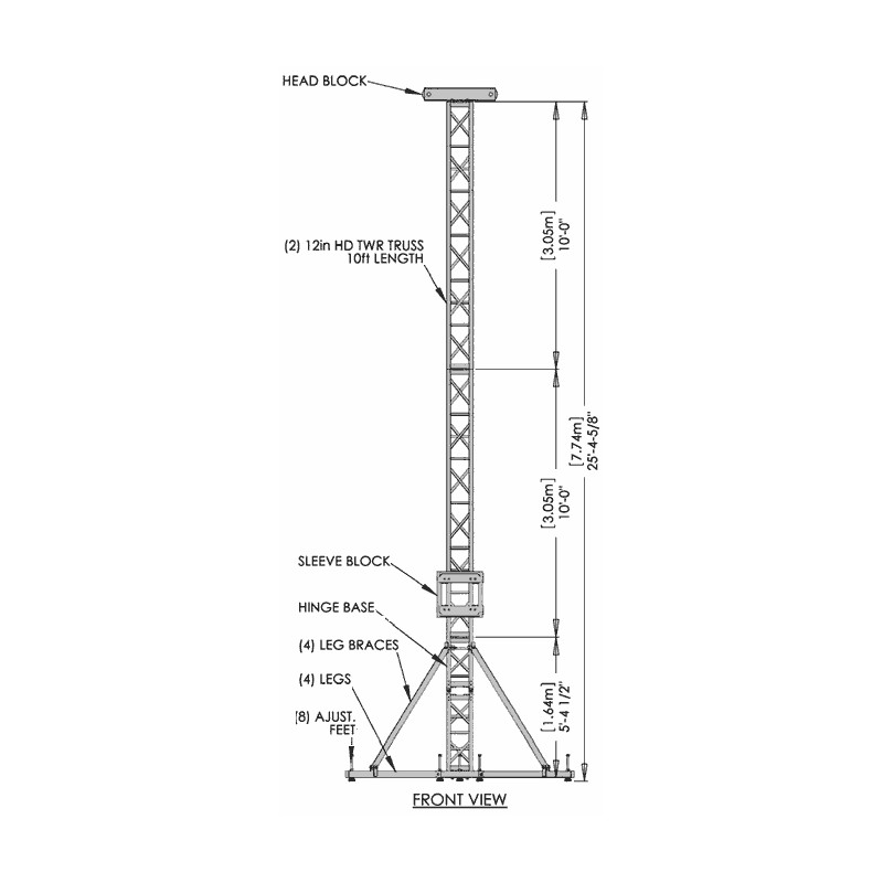Applied NN GS-35 Ground Support Tower System 35' Height w
