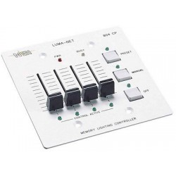 Leviton Luma-Net® N0804-CP0 Remote Memory Control Panel - 4 Manual Slide Controls