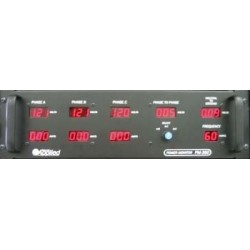 Applied NN PM-360 Three Phase Power Monitor Panel Rack-mount