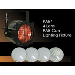 Lightronics 4 Lens PAR Can Lighting Fixture - White