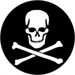 Rosco Steel Gobo - Skull & Crossbones