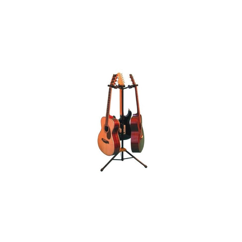 hercules guitar stand 3 auto grip systems holds 3 guitars or basses stage lighting store. Black Bedroom Furniture Sets. Home Design Ideas