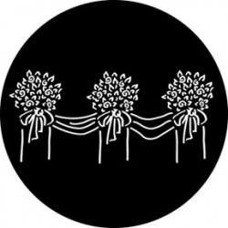 Rosco Steel Gobo - Floral Decoration 3