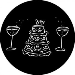 Rosco Steel Gobo - Wedding Cake