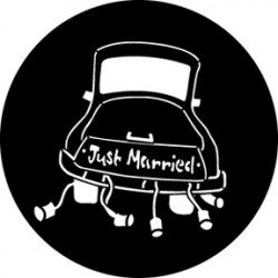 Rosco Steel Gobo - Just Married 2