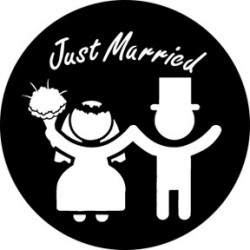 Rosco Steel Gobo - Just Married 3
