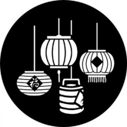 Rosco Steel Gobo - Chinese Lanterns