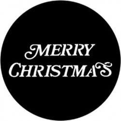 Rosco Steel Gobo - Merry Christmas