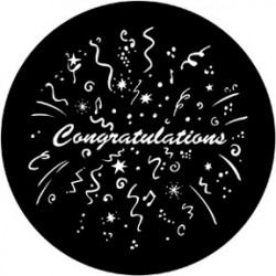 Rosco Steel Gobo - Congratulations