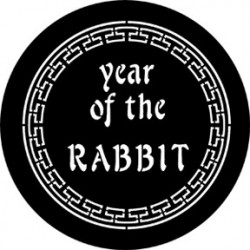 Rosco Steel Gobo - Year Of The Rabbit