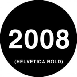 Rosco Steel Gobo - Helvetica Dates
