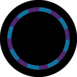 Rosco Glass Gobo - Purple/Teal Color Swirl
