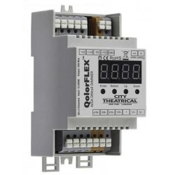 City Theatrical QolorFLEX 4x5A DINrail Dimmer