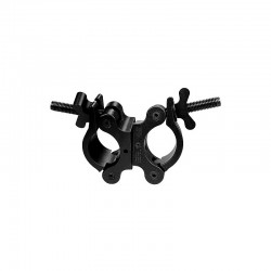 Light Source Swivel Coupler with Stainless Steel Wingnut - Black Anodized - Light Source MLSBSS