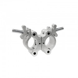 Light Source Swivel Coupler with Stainless Steel Wingnut - Aluminum Finish - Light Source MLSMSS