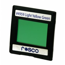 Rosco Permacolor - 2in Round Dichroic Glass - 34959 Light Yellow Green