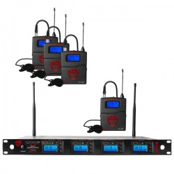 Nady 4W-1KU LT Quad True Diversity 1000-Channel Pro UHF Wireless