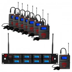 Nady 8W-1KU LT Octo True Diversity 1000-Channel Pro UHF Wireless