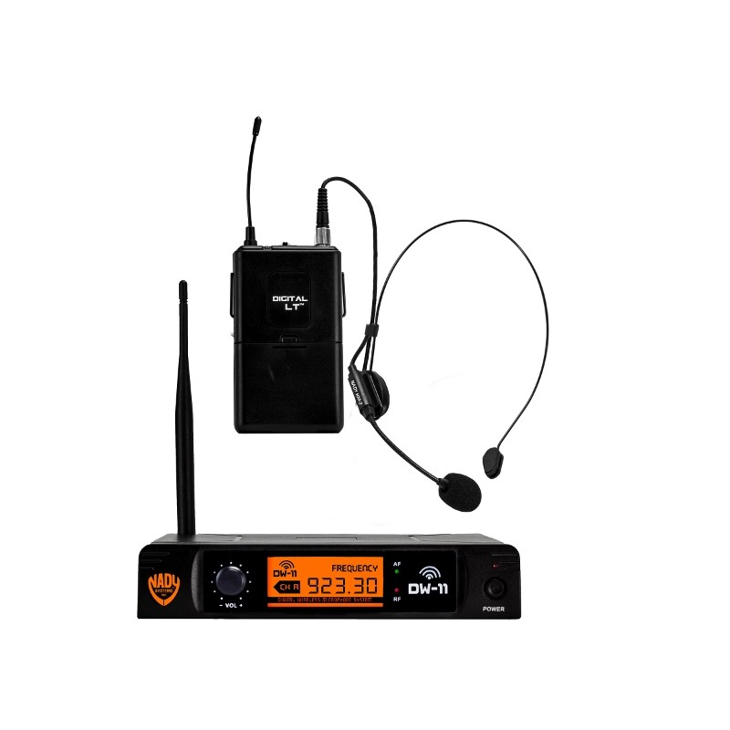 nady dw 11 digital wireless hm 3 headset microphone system stage lighting store. Black Bedroom Furniture Sets. Home Design Ideas