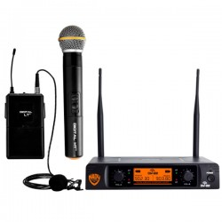 Nady Dual Digital Wireless Handheld and Lapel Microphone System