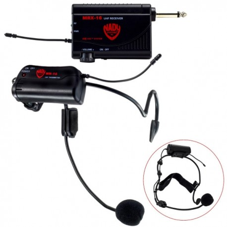 Nady VHM-16 Miniature wireless system with headset
