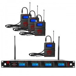 Nady 4W-1KU GT Quad True Diversity 1000-Channel Pro UHF Wireless