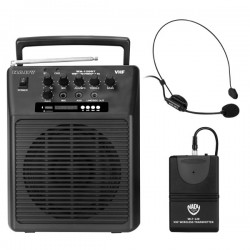 Nady Wireless Portable Compact PA Full-Range Speaker System with Batt.
