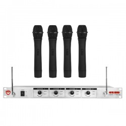 Nady Wireless 4-Channel Handheld Microphone System