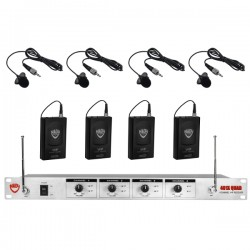 Nady Wireless 4-Channel Lavalier Microphone System