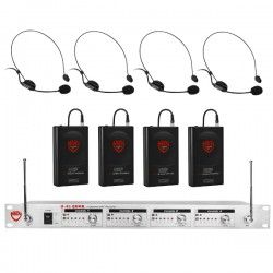 Nady Wireless UHF Headset 4-Channel Microphone System