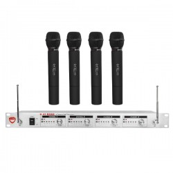 Nady Wireless UHF 4-Channel Handheld Microphone System