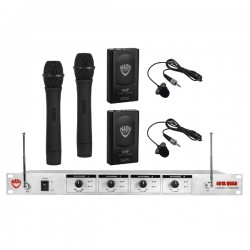 Nady Wireless 4-Channel Handheld and Lapel Microphone System