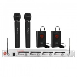 Nady Wireless UHF Handheld and Lapel 4-Channel Microphone System