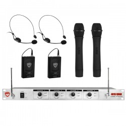 Nady Wireless 4-Channel Handheld and Headset Microphone System