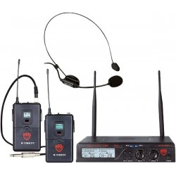 Nady Dual Combo HM-GT 200-Channel UHF Wireless Headset Mic and Instrument/Guitar
