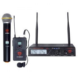 Nady Dual LT 200-Channel UHF Wireless Lavalier Mic System
