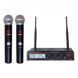 Nady Dual HT 200-Channel UHF Wireless Handheld Mic System