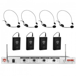 Nady Wireless 4-Channel Headset Microphone System