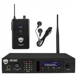 Nady UHF 100-Channel Wireless Pro In-Ear Monitor System with Earbuds