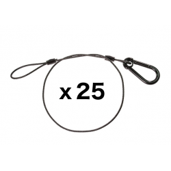 Black Safety Cable - 30 inches - 25 Pack