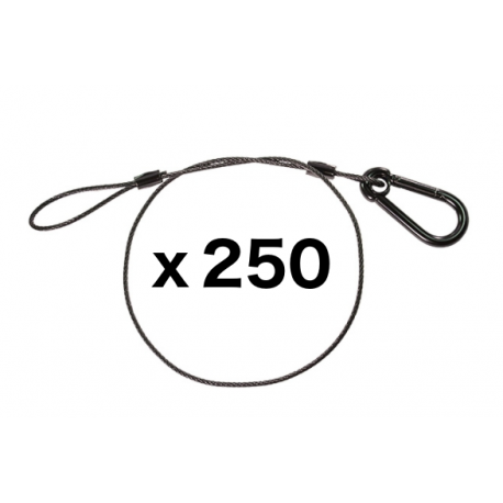 Black Safety Cable - 30 inches - 250 Pack